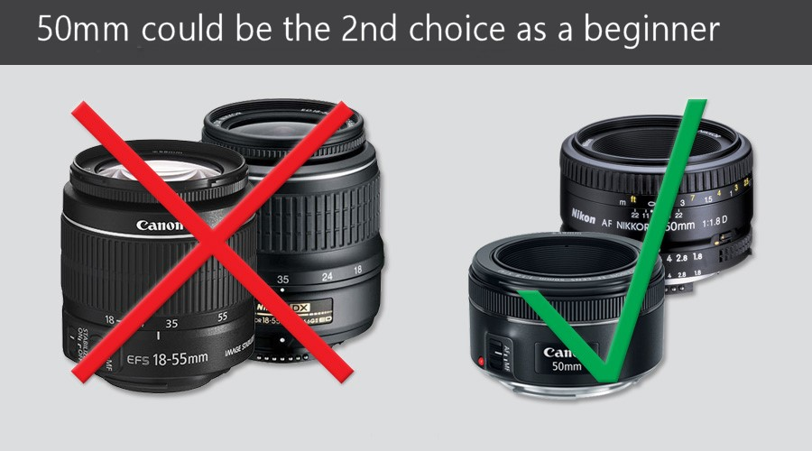 50mm Prime could be the second choice as a beginner